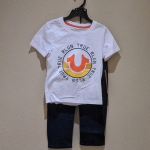 True Religion 2 piece t-shirt and jeans